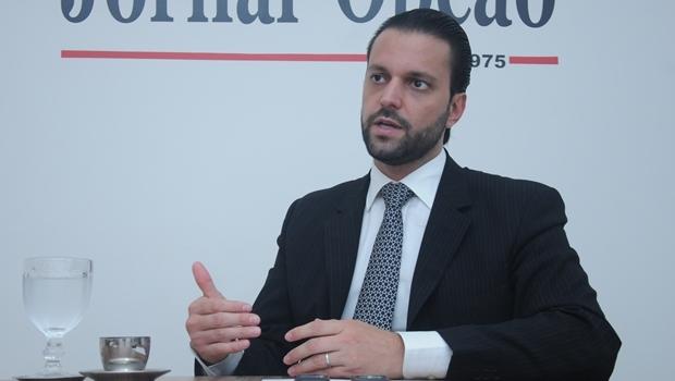Deputado Alexandre Baldy  durante entrevista ao Jornal Opção | Foto: Renan Accioly