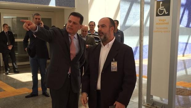 Governador Marconi Perillo fez vistoria no novo aeroporto na manha desta sexta-feira (13/5) | Foto: Gabinete Imprensa/Sarah Mohn