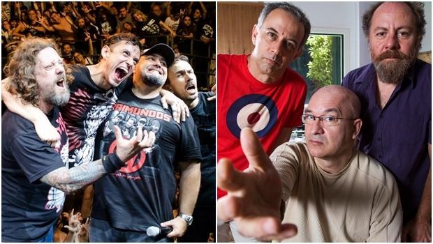 Raimundos e Paralamas do Sucesso: em Goiânia no mesmo festival   Fotos: reprodução / Facebook