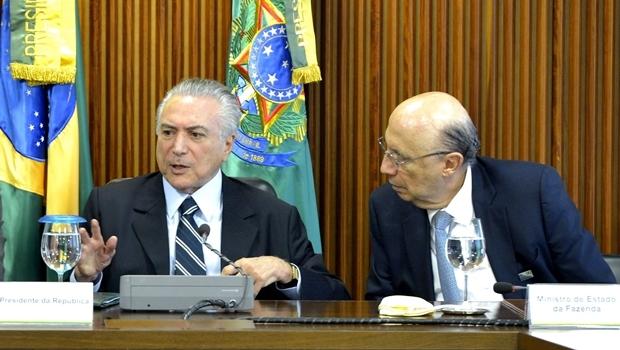 Presidente interino, Michel Temer, e o ministro da Fazenda, Henrique Meirelles | Foto: José Cruz / ABr