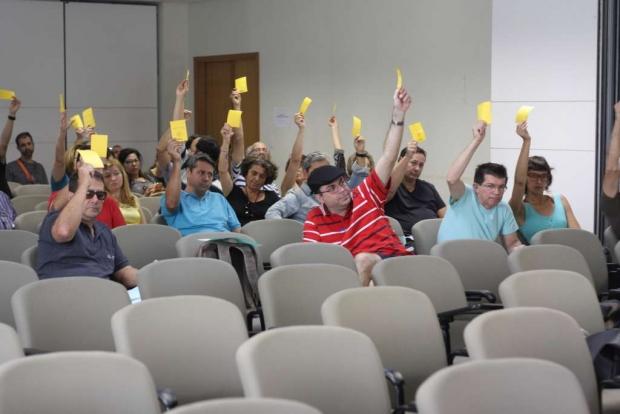 Assembleia desta segunda-feira (9/5) | Foto: Adufg