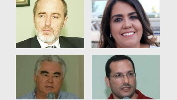 Haroldo Reimer, Carla Conti, Francisco Severo e Fábio Santa Cruz: os quatro candidatos para reitor da Universidade Estadual de Goiás