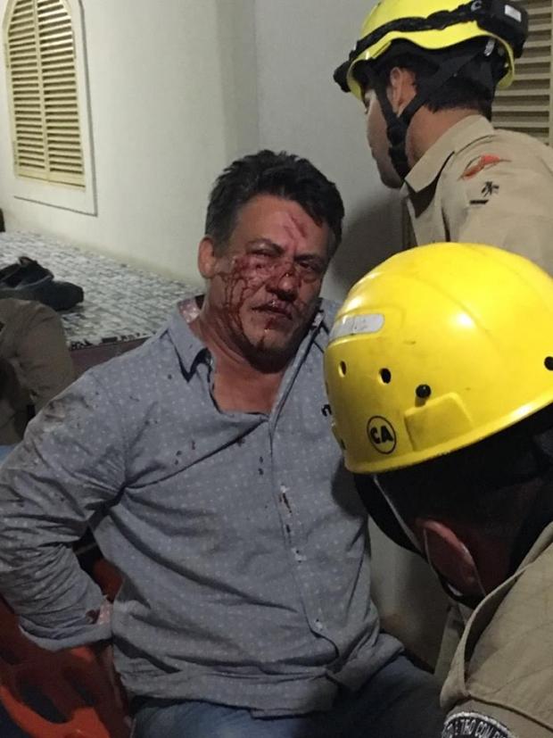Cláudio Lima é agredido em Catalão radialista_agredido