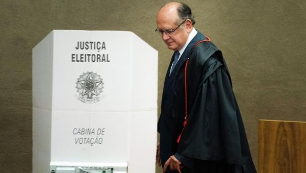 Para o ministro Gilmar Mendes, presidente do TSE, antecipação da entrega da lista do TCU ajudará Justiça Eleitoral na análise das candidaturas   Foto: José Cruz/Agência Brasil