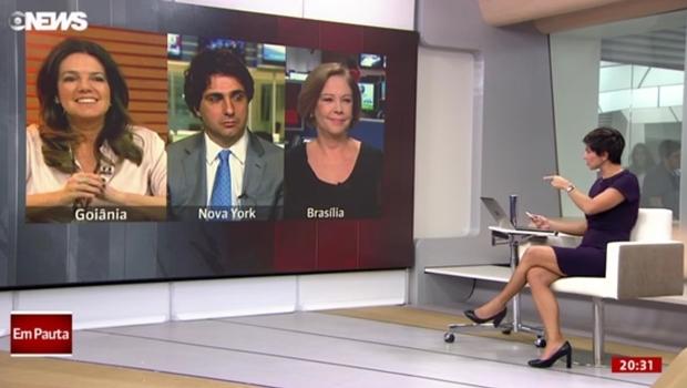 Jornalista e comentarista Mara Luquet destacou ajuste fiscal do governo goiano no programa Globo News em Pauta na sexta-feira (17/6) | Foto: Reprodução/Globo News