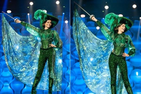 Beatrice Fontoura com seu traje típico no Miss Brasil 2014 | Foto: Lucas Ismael/ Band