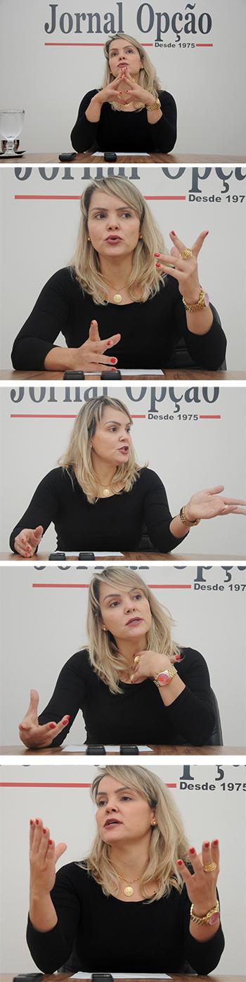 Na foto delegada Ana Elisa Gomes
