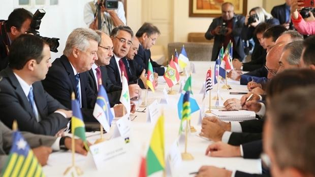 Governadores se reúnem na residência oficial das Águas Claras, em Brasília   Foto: Luiz Chaves / Palácio Piratini