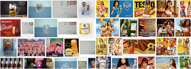 Resultado da busca no Google por propagandas de cerveja na Alemanha (esquerda) e no Brasil (direita): se uma imagem vale mesmo mais que mil palavras, o texto desta página nem precisaria ter sido escrito