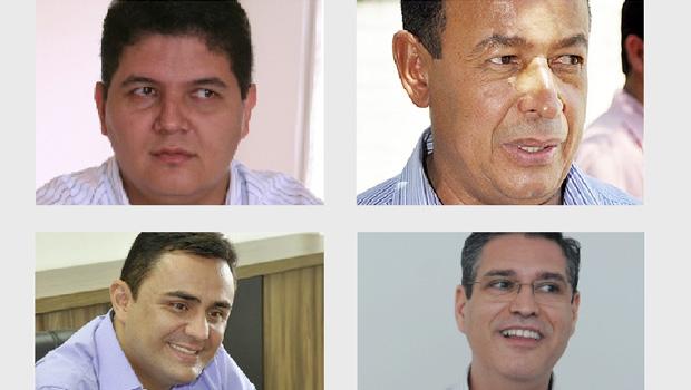 Heuler Cruvinel (Rio Verde), Luiz Teixeira (Niquelândia), Cristóvão Tormin (Luziânia) e Francisco Júnior (Goiânia): quatro apostas do comando do PSD