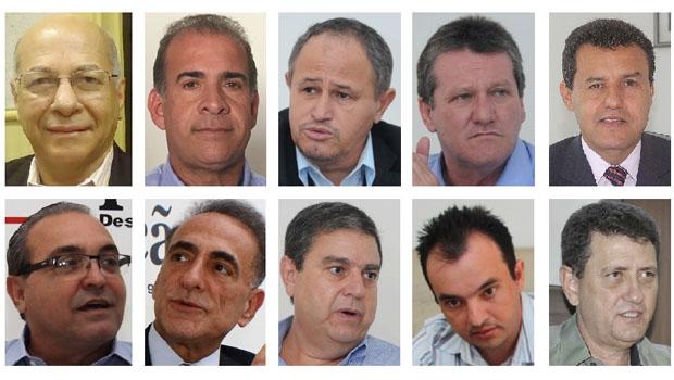 Alcides Ribeiro, Carlão Andrade, Carlos Antônio, Vecci, Itamar Leão, Jânio Darrot, J. Sebba, M. Melo, Pábio Mossoró e Pedro Fernandes