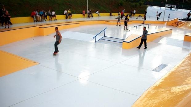 Foto da pista de skate