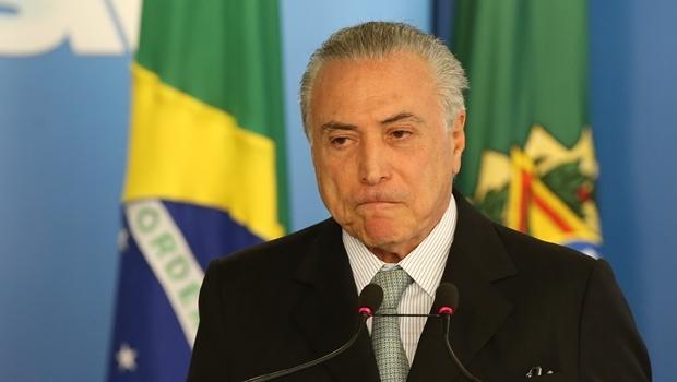 Presidente interino, Michel Temer, durante cerimônia   Foto Lula Marques/Agência PT