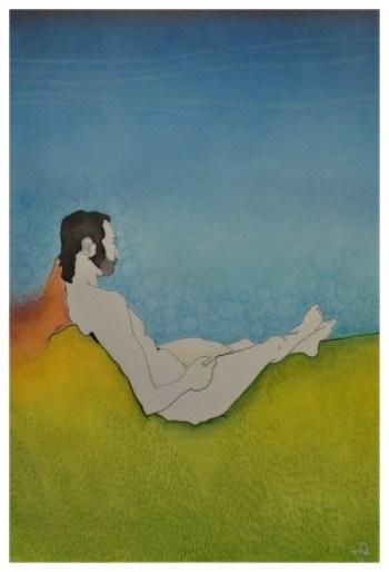 Retrato de Lucas Zaparolli de Agustini pela artísta plástica e ilustradora Cíntia Eto