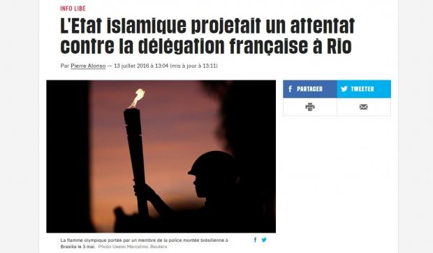 Notícia foi destaque em jornal francês nesta quarta | Reprodução