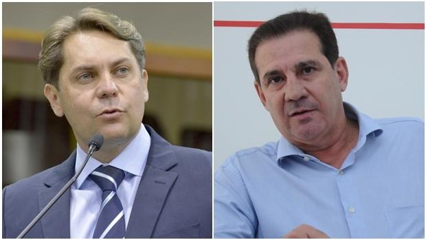 Pré-candidatos Bruno Peixoto e Vanderlan Cardoso | Fotos: Y. Maeda e Renan Accioly