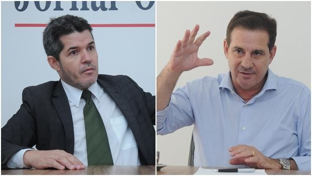 Delegado Waldir e Vanderlan Cardoso lideram as pesquisas | Fotos: Renan Accioly/ Jornal Opção
