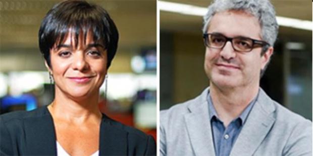 Vera Magalhães, ex-Folha de S. Paulo e ex-Veja, e Carlos Graieb, ex-redator-chefe da Veja: agora na Veja