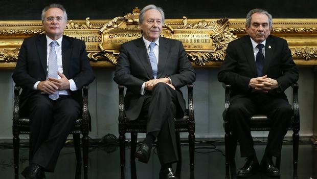 Presidente do STF, Ricardo lewandowski durante reunião com senadores. |  Foto Lula Marques/Agência PT