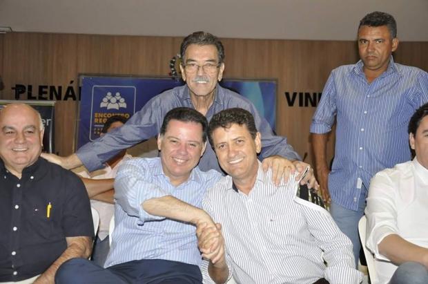 Marconi Perillo, Pedro Fernandes e Júlio da Retífica: pacto com o deputado e o governador para recuperar Porangatu | Foto: divulgação