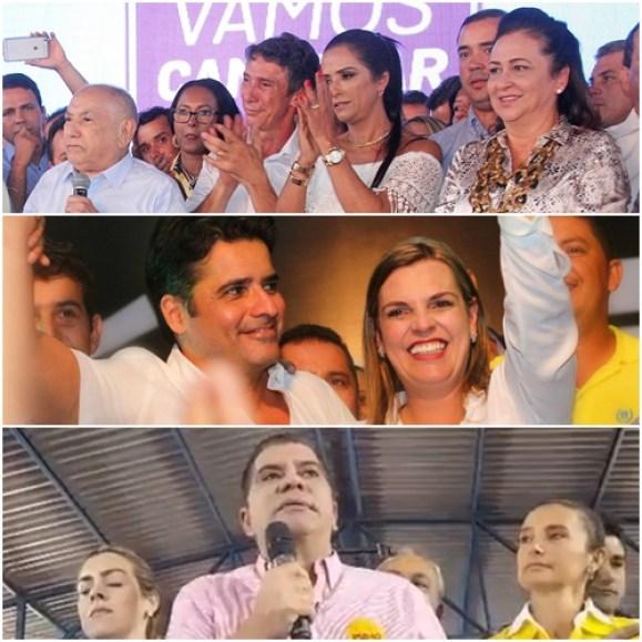 Convenções em Palmas: Raul Filho, Cláudia Lelis e Amastha | Fotos: Facebook