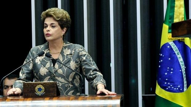 Dilma Rousseff discursa no plenário do Senado Federal | Foto: Reprodução / Agência Brasil