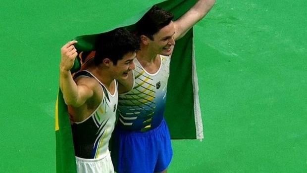Diego Hypolito e Nory são prata e bronze no solo da ginástica artística