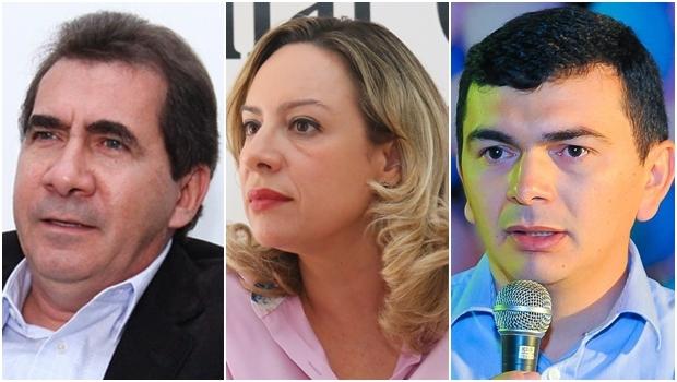 Petistas que disputam maiores cidades de Goiás: João Gomes, em Anápolis; Adriana Accorsi, em Goiânia; e Roberto Martins, em Valparaíso