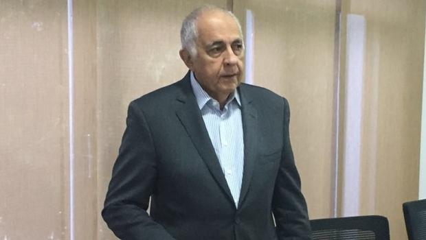 Novo presidente durante entrevista coletiva na sede administrativa da Saneago, em Goiânia   Foto: Marcelo Gouveia/Jornal Opção