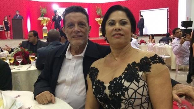 Nick Barbosa, e sua mulher, Maria Lúcia | Reprodução