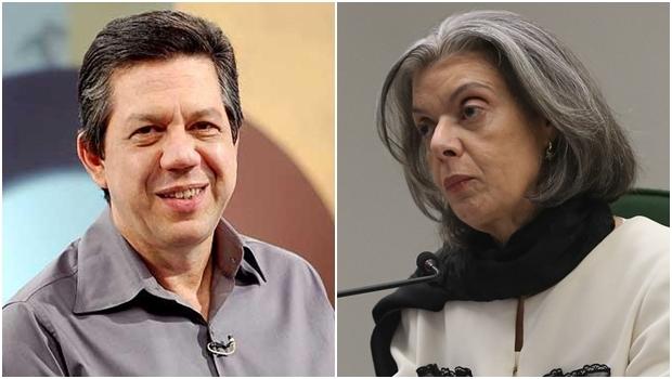 Professor Pasquale e a ministra Cármen Lúcia | Foto: José Cruz/ Agência Brasil