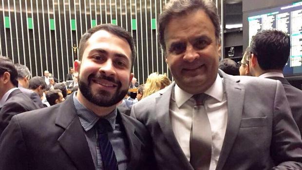 Atual presidente do PSDB Jovem e presidente do partido, Aécio Neves