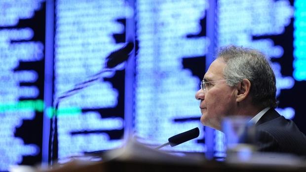 Renan Calheiros durante sessão | Foto: Jonas Pereira
