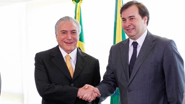 Temer e Rodrigo Maia: parceria não tão simples assim |  Foto: Beto Barata/PR