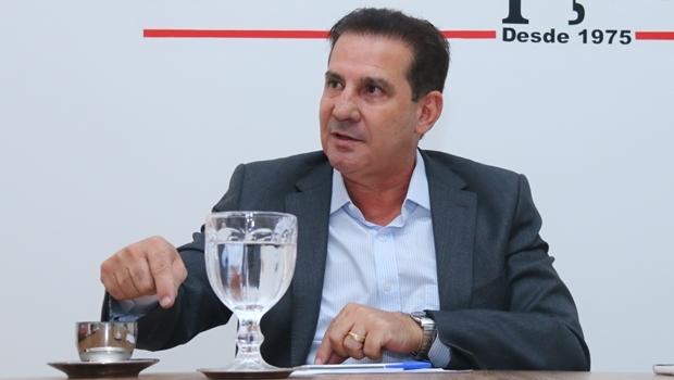 Vanderlan Cardoso durante entrevista ao Jornal Opção no dia 16 de agosto