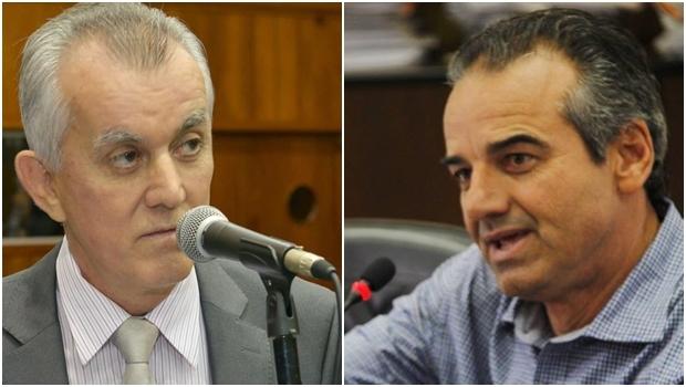 Victor Priori e o prefeito Humberto Machado: DEM e PMDB juntos em Jataí. Ou nem tanto | Fotos: reprodução/ Alego/ Prefeitura de Jataí