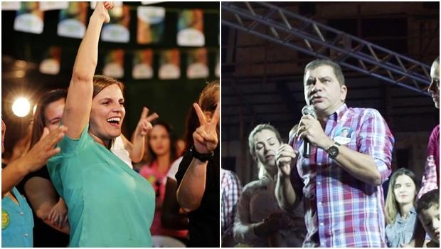 Claudia e Amastha polarizam a eleição em Palmas | Fotos: reprodução