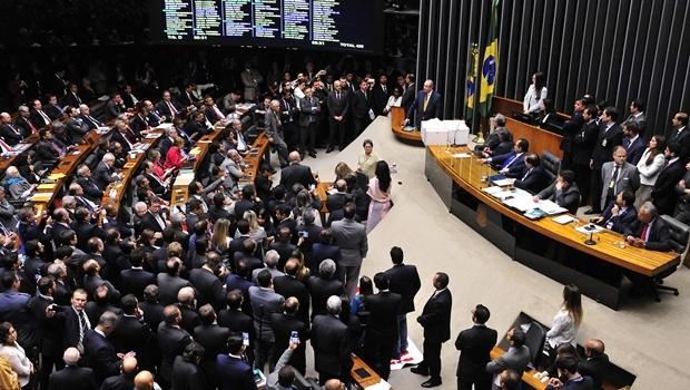 Eduardo Cunha se defendendo durante sessão | Foto: Luis Macedo/ Agência Câmara
