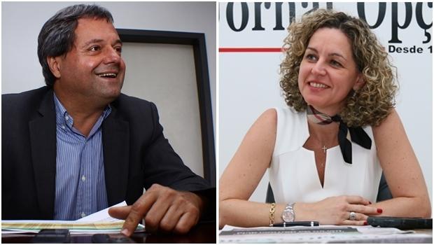 Jayme Rincón e Ana Carla Abrão durante entrevistas ao Jornal Opção