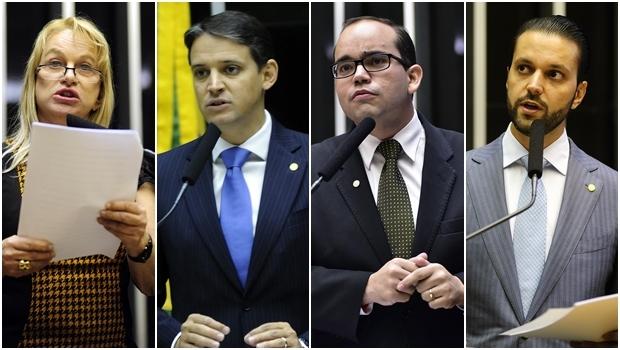 Magda Mofatto, Thiago Peixoto, Fábio Sousa e Alexandre Baldy: votarão pela cassação | Fotos: Câmara dos Deputados