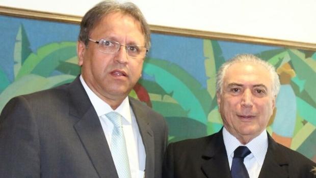 Marcelo Miranda e o presidente Michel Temer | Foto: Pedro França/ GovToc