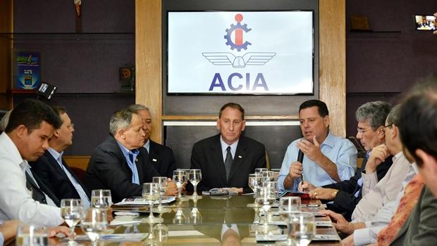 Marconi anuncia projeto para ampliar parque industrial de Anápolis