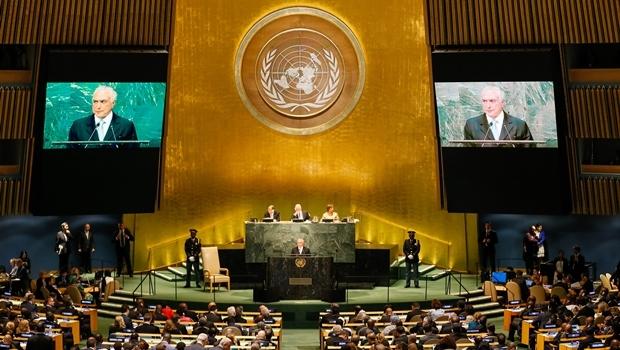 Presidente Michel Temer durante abertura do Debate Geral da 71ª Assembleia Geral das Nações Unidas - ONU | Foto: Beto Barata/PR