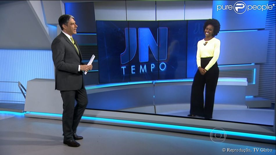 William Bonner e Maju conversam no Jornal Nacional e descartam boatos