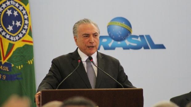 Em seu discurso, Temer afirmou que prioridade do governo é gerar emprego e renda | Foto: Bruna Aidar/ Jornal Opção