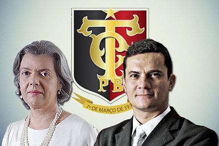 Carmen Lúcia, presidente do Supremo Tribunal Federal, e Sergio Moro, juiz federal