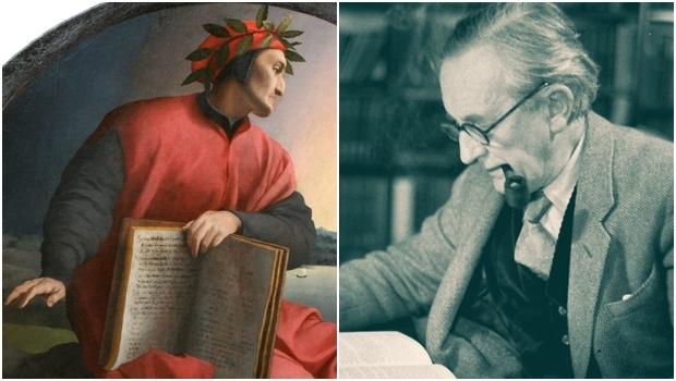 Dante Alighieri (retratado acima) e J.R.R. Tolkien: o primeiro foi resonsável pela quebra de uma tradição; o segundo, pela retomada. Por isso, é possível achar pontos em comum na obra dos dois autores | Fotos: Pintura de Agnolo Bronzino e LA Times