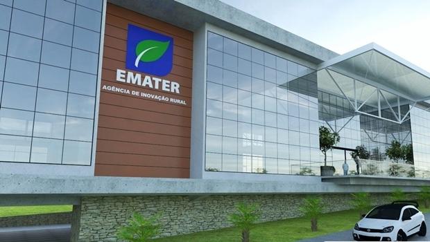 Projeto da nova sede da Emater Goiás   Foto: Reprodução
