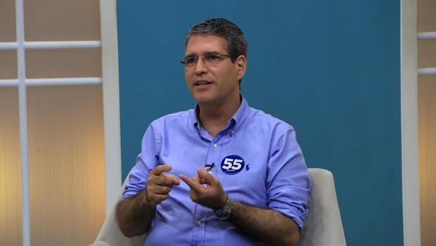 Francisco Jr. durante entrevista | Foto: Rafael Batista