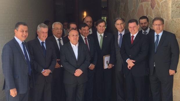 Governadores reunidos com presidente da Câmara | Foto: reprodução